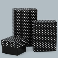 Cardboard Jewelry Set Box, Rectangle, different styles for choice & different designs for choice & with round spot pattern, Sold By PC