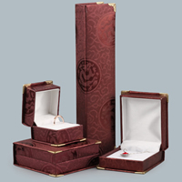 Cardboard Jewelry Set Box, with Zinc Alloy, gold color plated, different styles for choice, Sold By PC