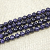 Blue Goldstone Beads, Round, synthetic, different size for choice, Length:Approx 15 Inch, Sold By Strand