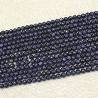 Blue Goldstone Beads, Round, synthetic, different size for choice & faceted, Length:Approx 15 Inch, Sold By Strand