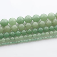 Green Aventurine Bead, Round, natural, different size for choice, Length:Approx 15 Inch, Sold By Strand
