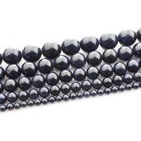 Blue Goldstone Beads, Round, different size for choice, Length:Approx 15 Inch, Sold By Strand