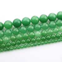 Green Aventurine Bead, Round, different size for choice, Length:Approx 15 Inch, Sold By Strand
