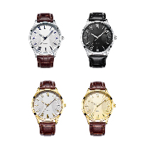 comeon® Unisex Jewelry Watch, Zinc Alloy, with Cowhide & Glass, Chinese movement, plated, different size for choice, more colors for choice, Sold By PC