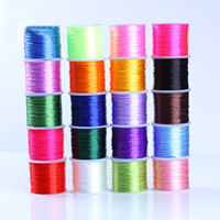 Crystal Thread, with plastic spool, elastic, more colors for choice, 0.7mm, Sold By Spool
