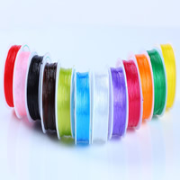 Crystal Thread, with plastic spool, elastic, more colors for choice, 0.8mm, Sold By Spool