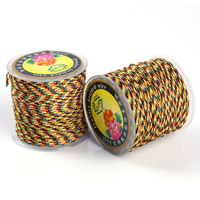 Crystal Thread, with plastic spool, elastic & braided, 1-1.5mm, Sold By Spool