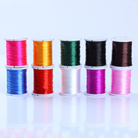 Crystal Thread, with plastic spool, elastic & braided, more colors for choice, 1000mm, Sold By Spool