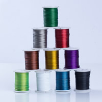 Tiger Tail Wire, with plastic spool, plated, with painted, more colors for choice, 0.45mm, Sold By Spool