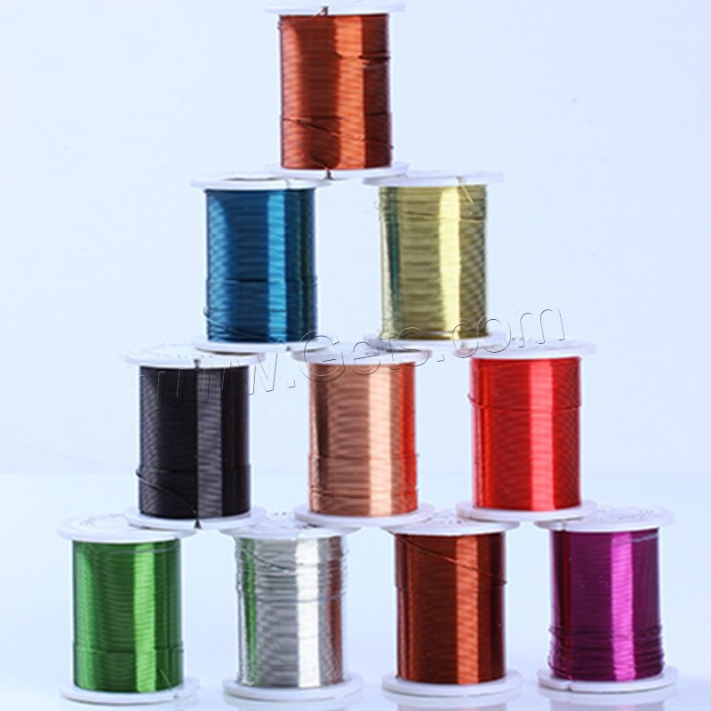 Tiger Tail Wire, with plastic spool, plated, with painted, more colors for choice, lead & cadmium free, 0.3mm, Sold By Spool