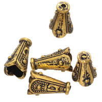 Zinc Alloy Bead Caps, Flower, antique gold color plated, lead & cadmium free, 12x8mm, Hole:Approx 1.1mm, 500PCs/Bag, Sold By Bag