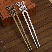 Hair Pins, Zinc Alloy, Butterfly, plated, more colors for choice, lead & cadmium free, 155x34mm, Sold By PC