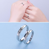 925 Sterling Silver Couple Ring, for woman, 3mm, 3.5mm, US Ring Size:8-12, Sold By Pair