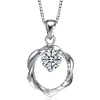 Cubic Zirconia Sterling Silver Pendants, 925 Sterling Silver, with cubic zirconia, more colors for choice, 13x20mm, Hole:Approx 4x7mm, Sold By PC