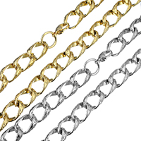 Fashion Stainless Steel Necklace Chain, plated, twist oval chain & for woman, more colors for choice, 16.5x11x6mm, Length:Approx 18.5 Inch, Sold By Strand