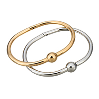 Stainless Steel Bangle, plated, for woman, more colors for choice, 9.5mm, 4mm, Inner Diameter:Approx 59.5x43mm, Sold By PC