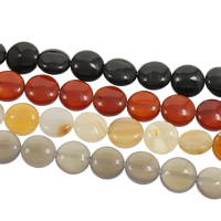 Lace Agate Beads, Flat Round, more colors for choice, 14x6mm, Hole:Approx 1mm, Length:Approx 15 Inch, Approx 30PCs/Strand, Sold By Strand