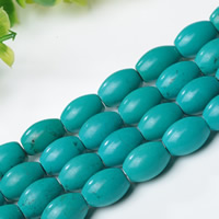 Synthetic Turquoise Beads, Drum, Hole:Approx 1mm, Length:Approx 15 Inch, Sold By Strand