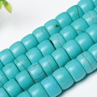 Synthetic Turquoise Beads, Rondelle, Hole:Approx 1mm, Length:Approx 15 Inch, Sold By Strand