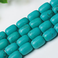 Synthetic Turquoise Beads, Column, different size for choice, Hole:Approx 1mm, Length:Approx 15 Inch, Sold By Strand