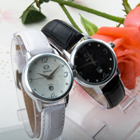 Guccamel® Women Jewelry Watch, PU, with zinc alloy dial & Glass, plated, adjustable & for woman & with rhinestone, more colors for choice, 34x10mm, Length:Approx 7.1 Inch, Sold By PC