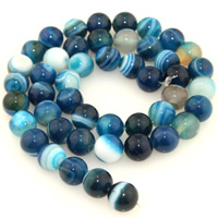 Natural Lace Agate Beads, Round, different size for choice, blue, Length:Approx 15.5 Inch, Sold By Strand