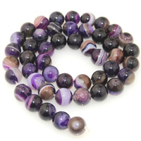 Natural Lace Agate Beads, Round, different size for choice, purple, Length:Approx 15.5 Inch, Sold By Strand