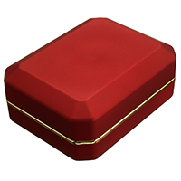 Rubber Necklace Box, with Glue Film & Velveteen & Zinc Alloy, Rectangle, gold color plated, with painted, 71x96x36mm, Sold By PC