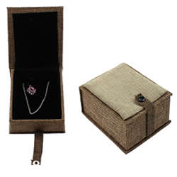 Linen Jewelry Set Box