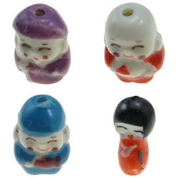 Hand Drawing Porcelain Beads