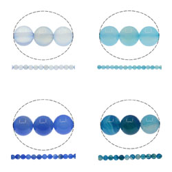 Natural Blue Agate Beads