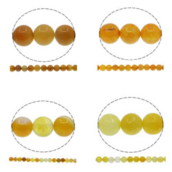 Natural Yellow Agate Beads