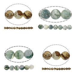 Natural Tree Agate Beads