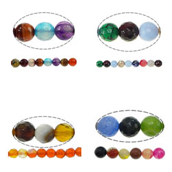Mixed Agate Beads