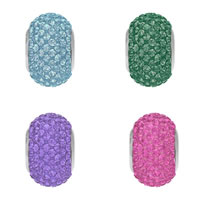 CRYSTALLIZED™ Elements #80101 Crystal BeCharmed Pavé Beads