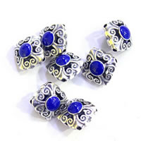 Sterling Silver Cloisonne Beads