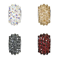 CRYSTALLIZED™ Elements #80401 Crystal BeCharmed Pavé Spike Beads