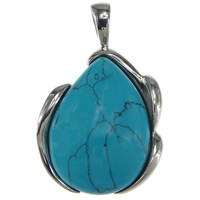 Turquoise Stainless Steel Pendant