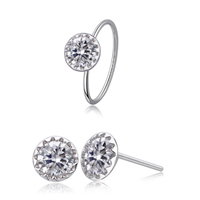 Sterling Silver Cubic Zircon Jewelry Sets