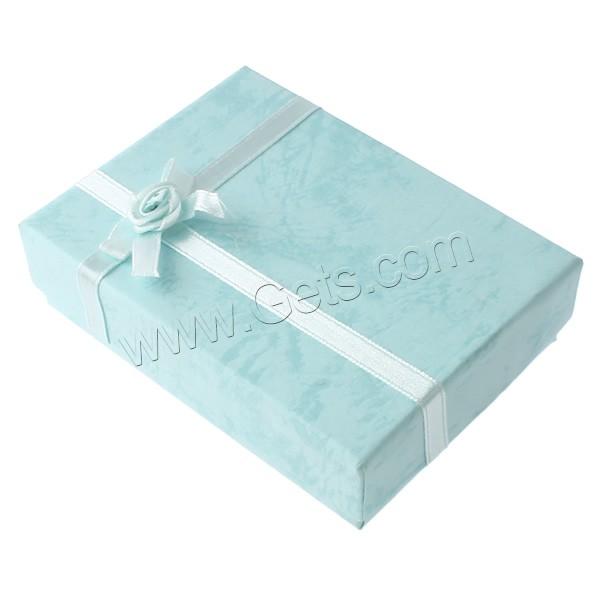 Bo Te De Boucle D 39 Oreille Carton Avec Ruban De Satin Rectangle Bleu Ciel 80x110x30mm 48pc