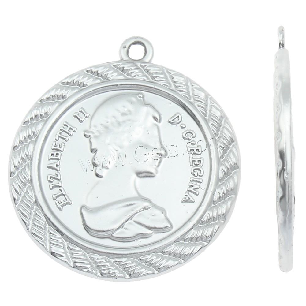 Zinc alloy commemorative coin pendant silver color plated