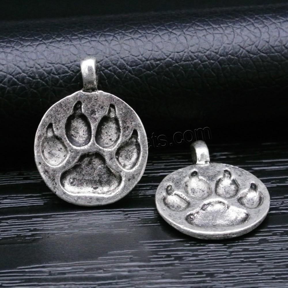 Zinc alloy jewelry pendants bear paw antique silver color