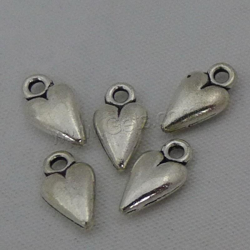 Zinc alloy heart pendants antique silver color plated lead